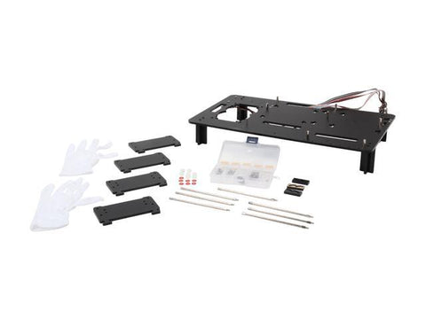 Battleborn Black Acrylic Test Bench for ATX or mATX motherboard, components not included