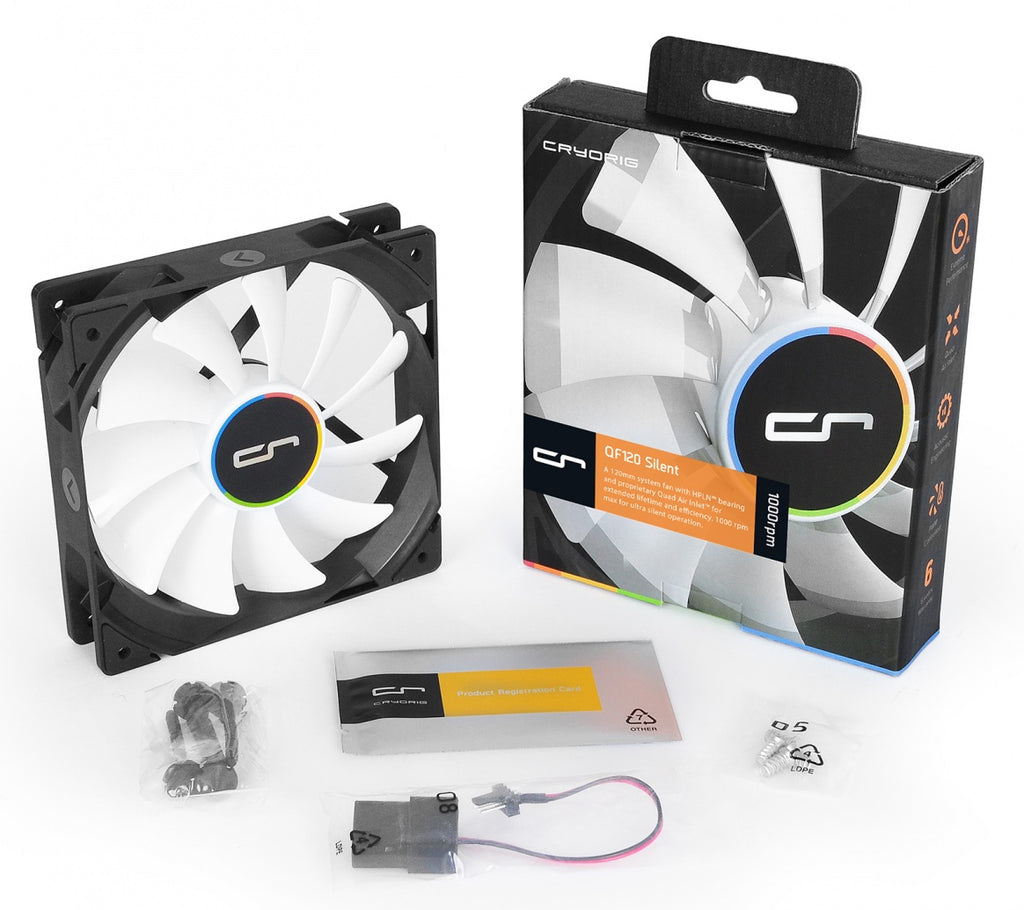 Cryorig QF120 Silent 120mm PWM Fan 200 - 1000RPM CR-QFB