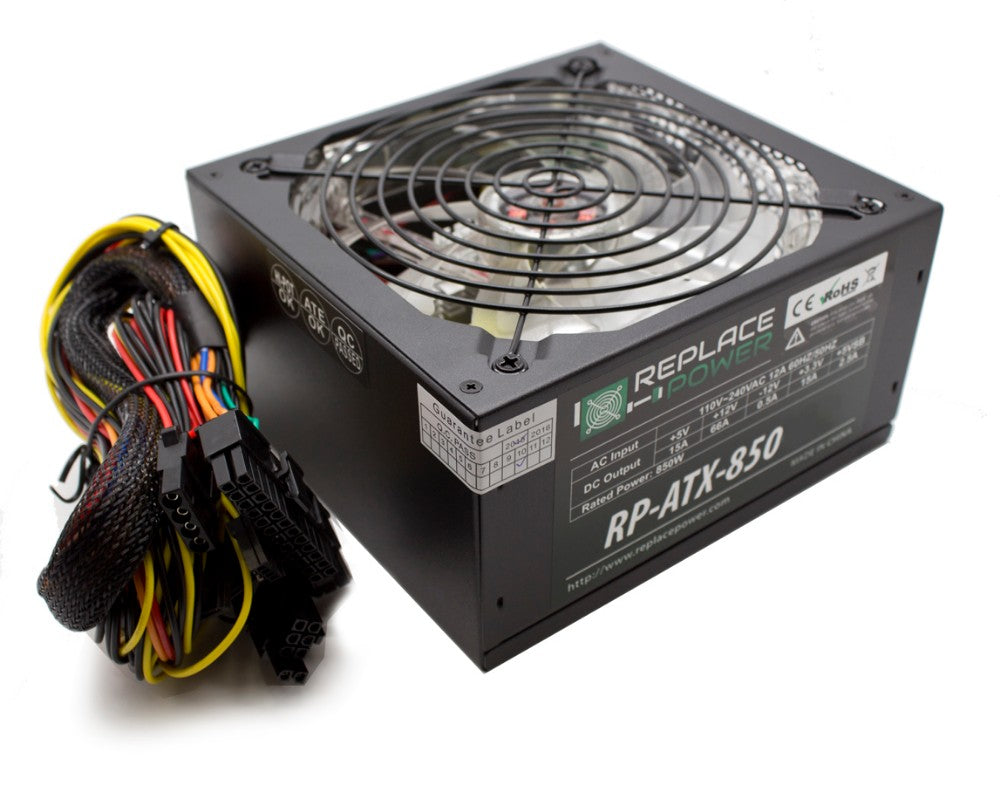ReplacePower 850W ATX Power Supply Red LED
