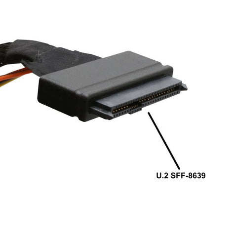 Syba SI-CAB40120 U.2 (SFF-8639) NVMe PCIe to MiniSAS (SFF-8643) SSD Cable