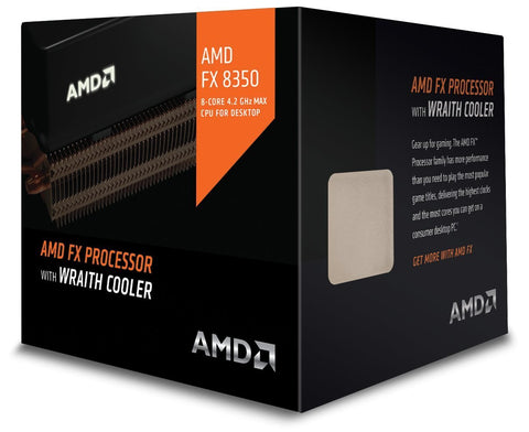 AMD CPU FX-8350 Black Edition 4.0 GHz Socket AM3+ FD8350FRHKHBX with AMD Wraith Cooler