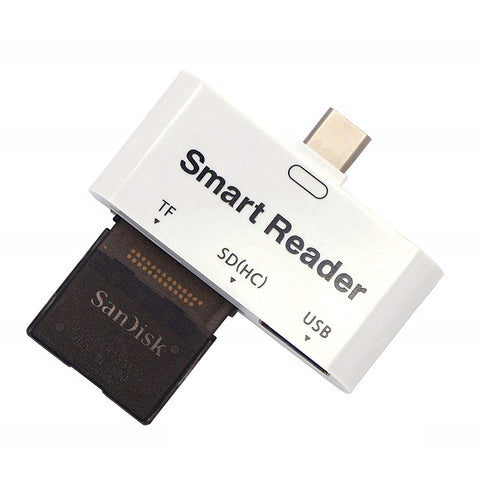 Image of 3 in 1 USB 3.1 Type C to USB Smart Card Reader
