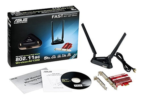 ASUS PCE-AC56 PCI-Express Dual-Band 802.11ac Wireless-AC1300 Adapter
