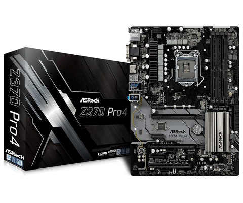 ASRock Z370 Pro4 LGA 1151 (300 Series) Intel Z370 HDMI SATA 6Gb/s USB 3.1 ATX Intel Motherboard