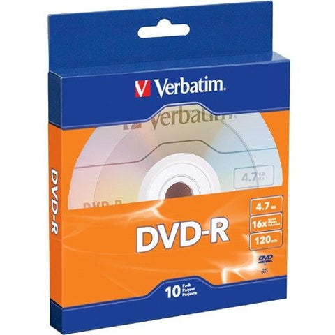 Image of Verbatim 97957 DVD-R 4.7GB 16X 10pk Bulk Box