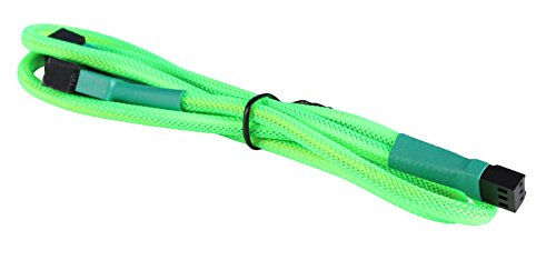 BattleBorn 30cm Green 3pin to 2x 3pin Braided Sleeved Splitter Cable