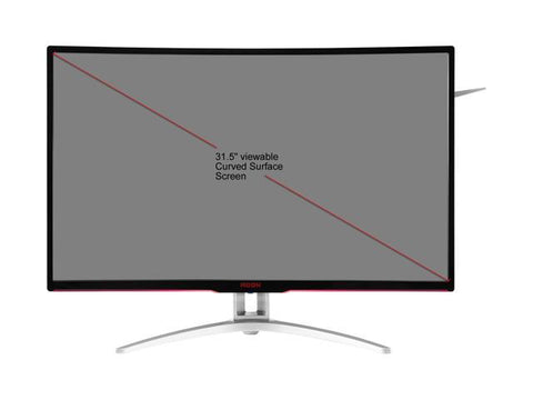 AOC AGON AG322QCX 31.5in Curved Gaming Monitor, 1800R curvature, QHD 2560x1440 VA panel, AMD FreeSync, 144Hz, 4ms, Height Adjustable