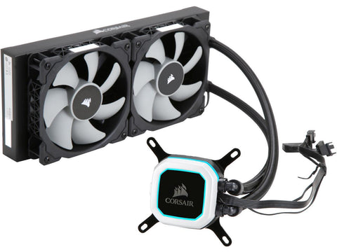 Image of Corsair Hydro Series H100i PRO Low Noise 240mm RGB Water/Liquid CPU Cooler CW-9060033-WW
