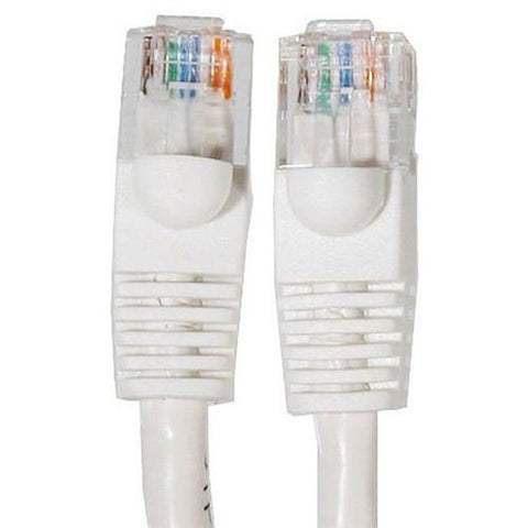 Image of 25 feet Cat5e RJ45 Ethernet Network Cable (White)