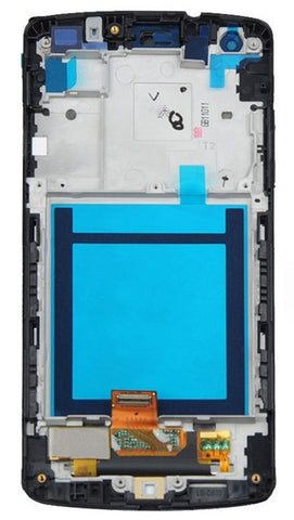 Image of Replacement LCD & Touch Screen Digitizer Assembly for Nexus 5 D821 D820 w/ Frame