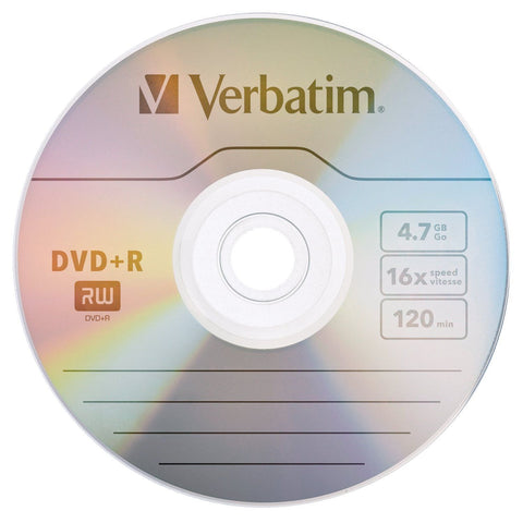 Image of Verbatim 4.7GB 16X DVD+R 10 Packs Disc Model 95032