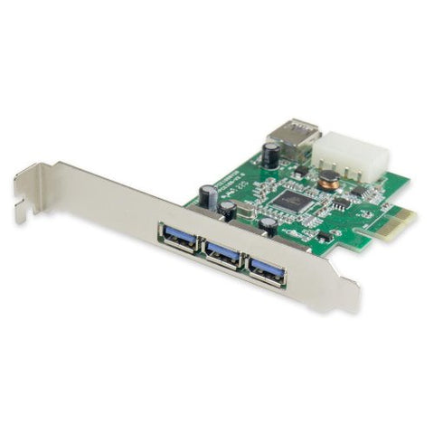 Image of Syba 3+1 Port PCIe x1 USB 3.0 Controller Card