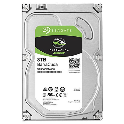 "Image of Refurbished Seagate ST3000DM008 3TB 7200 RPM SATA 3.5"" HDD"