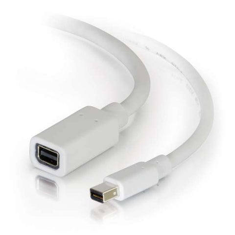 C2G 10 Foot Mini DisplayPort Extension Cable M/F - White 54415
