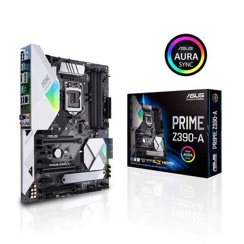 Image of ASUS Prime Z390-A LGA 1151 (300 Series) Intel Z390 HDMI SATA 6Gb/s USB 3.1 ATX Intel Motherboard