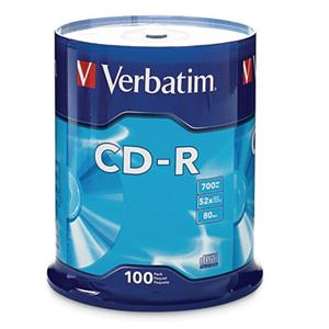 Verbatim 94554 100 Pack 52x CD-R Spindle