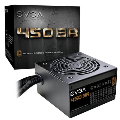 Image of EVGA 450 BR 80+ BRONZE 450W Power Supply 100-BR-0450-K1