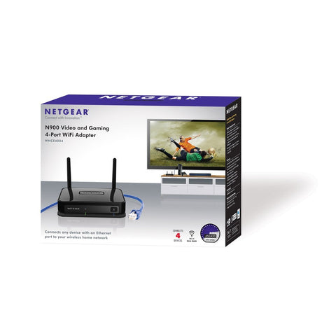 Refurb NetGear WNCE4004-100NAS 10/100Mbps N900 Gaming 4-Port Wi-Fi Adapter