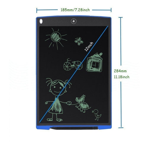 Image of 12-Inch LCD Writing Drawing Tablet / Graphics Board / Memo Pad with Stylus Pen and Push-Button Erase