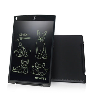 12-Inch LCD Writing Drawing Tablet / Graphics Board / Memo Pad with Stylus Pen and Push-Button Erase