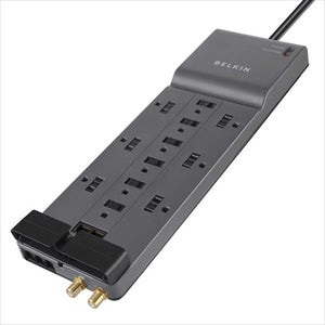 BELKIN BE112234-10 12 Outlet 4120J 10' Cord Surge Protector