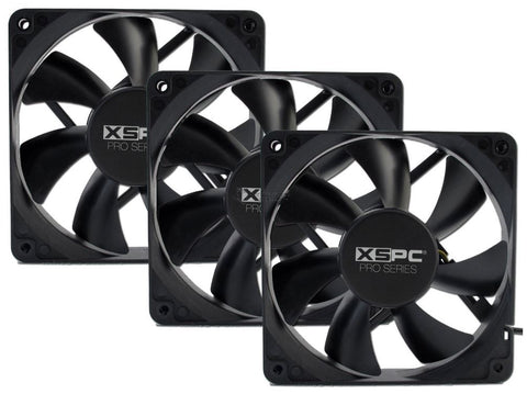 Image of XSPC Pro Series 120mm Fan - 3Pin 1650RPM (3 Pack)