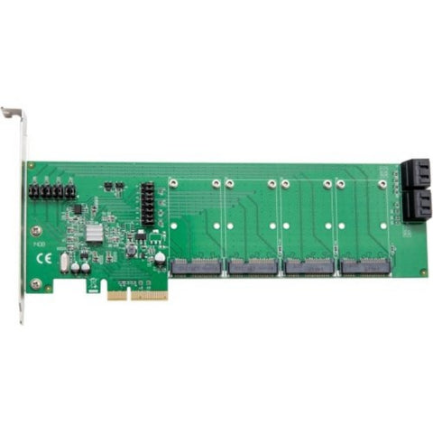 Syba 4 Port mSATA PCI Express 2.0 x4 Raid Controller Card Marvell Chipset
