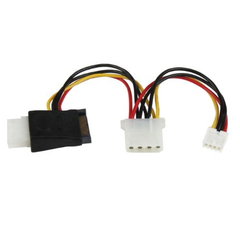 Image of Startech LP4SATAFMD 4-Pin Molex to SATA & Floppy Power Adapter