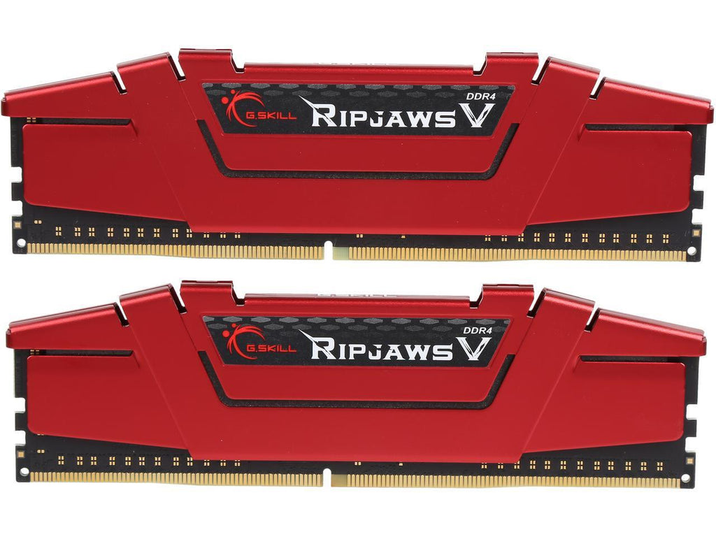 GSKILL Ripjaws V Series 8GB (2 x 4GB) 288-Pin DDR4 SDRAM DDR4 3200 (PC4 25600) Intel Z170 Platform Desktop Memory F4-3200C16D-8GVRB
