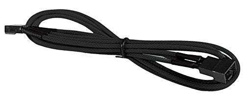 BattleBorn 4-Pin PWM Fan M/F Extension Cable - Braided Sleeve Black
