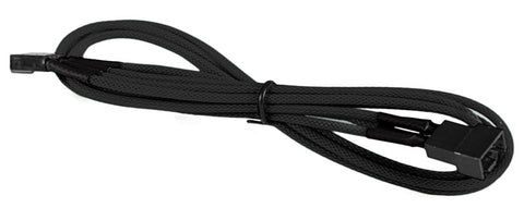 Image of BattleBorn 4-Pin PWM Fan M/F Extension Cable - Braided Sleeve Black