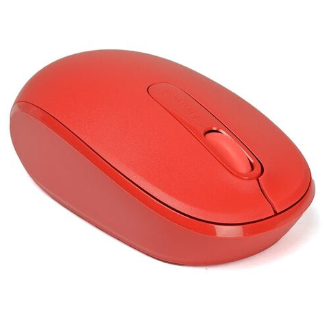 Microsoft 3-Button Optical Scroll Wireless Mobile Mouse 1850 w/1000 DPI & Nano USB Transceiver (Red)