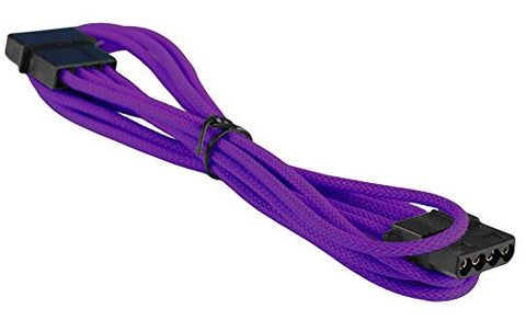 Image of BattleBorn M/F Molex Extension Cable (Purple Braided)