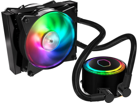 Cooler Master MasterLiquid ML120R Addressable RGB AIO CPU Liquid Cooler 28 Independently-Controlled LEDS,