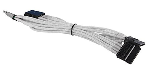 Image of NZXT CABLE-NT-CB-43SATA-W Molex to 3x SATA Cable (White)