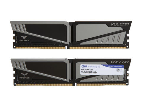 Team T-Force Vulcan 16GB (2 x 8GB) 288-Pin DDR4 SDRAM DDR4 3200 (PC4 25600) Desktop Memory Model TLGD416G3200HC16CDC01