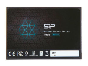 Silicon Power Ace A55 25 512GB SATA III 3D NAND Internal Solid State Drive (SSD) SU512GBSS3A55S25NE