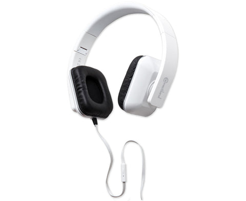 Syba White Foldable Stereo Headset with Inline Controls