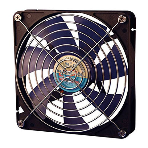 Image of Masscool SLC-FD12025 120mm Double-Ball Silent Case Fan w/ 3+4pin Power