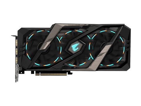 Image of GIGABYTE AORUS GeForce RTX 2070 XTREME 8G Graphics Card, 3 x Stacked WINDFORCE Fans, 8GB 256-Bit GDDR6