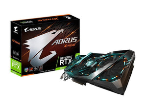 GIGABYTE AORUS GeForce RTX 2070 XTREME 8G Graphics Card, 3 x Stacked WINDFORCE Fans, 8GB 256-Bit GDDR6