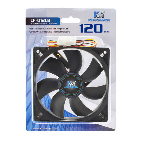 Image of Kingwin CF-012LB 120mm Long-Life Bearing 19dB 950RPM Case Fan