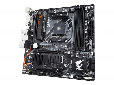 Image of GIGABYTE B450 AORUS M (rev 1.0) AM4 AMD B450 SATA 6Gb/s USB 3.1 HDMI Micro ATX AMD Motherboard