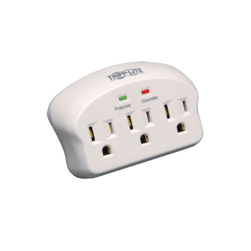 Tripp Lite Surge Protector Wallmount Direct Plug In 3 Outlet 660 Joules