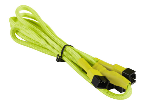 Image of BattleBorn Yellow Braided 3-Pin Fan to 4x 3-Pin Cable