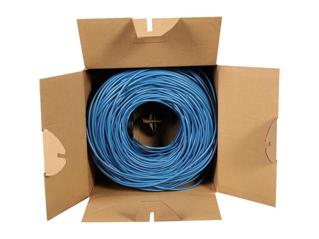 StarTech.com WIRRJ45BLRL 1000 ft Bulk Cat 5e Ethernet Cable - Stranded - Blue - Bulk Ethernet Cable - Blue Cat 5 Wire - 1000ft