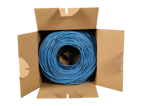 Image of StarTech.com WIRRJ45BLRL 1000 ft Bulk Cat 5e Ethernet Cable - Stranded - Blue - Bulk Ethernet Cable - Blue Cat 5 Wire - 1000ft
