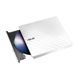 ASUS USB 2.0 White External Slim CD/DVD Writer Model SDRW-08D2S-U (White)