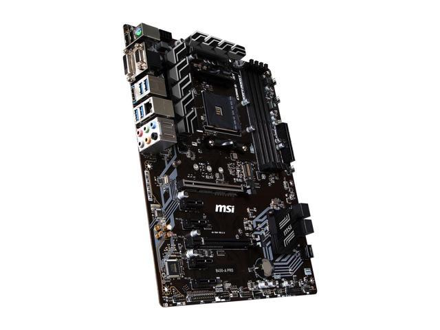 MSI B450-A PRO AM4 AMD B450 SATA 6Gb/s USB 3.1 HDMI ATX AMD Motherboard