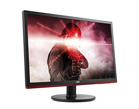 "AOC G2460VQ6 Black with Red Stripe 24"" 75 Hz Monitor"